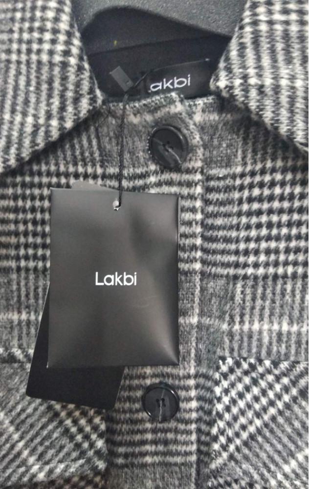 Lakbi 31715 - тепла вовняна сорочка в клітинку з поясом
