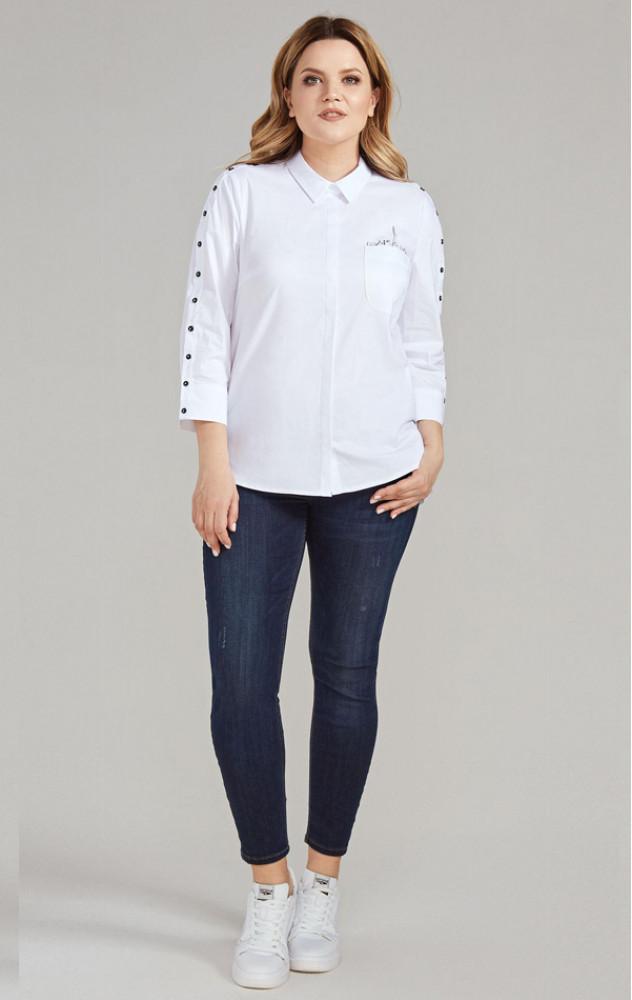 Panda 438640 - білоруська бавовняна біла блуза
