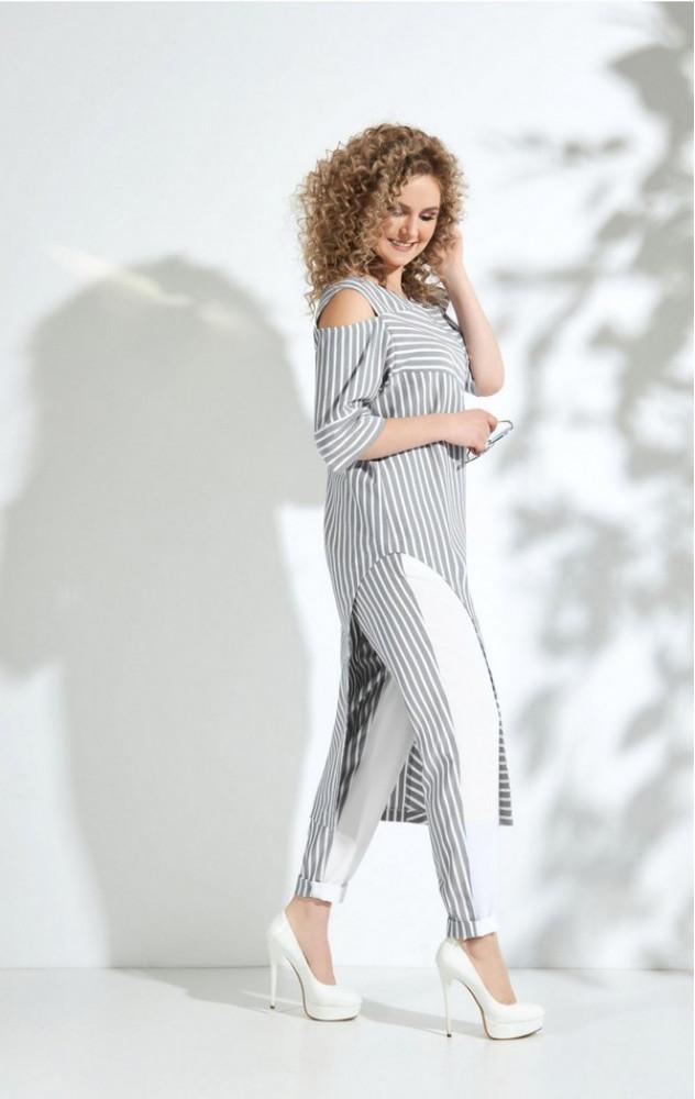 Euro-moda 338 - білоруський брючний літній костюм