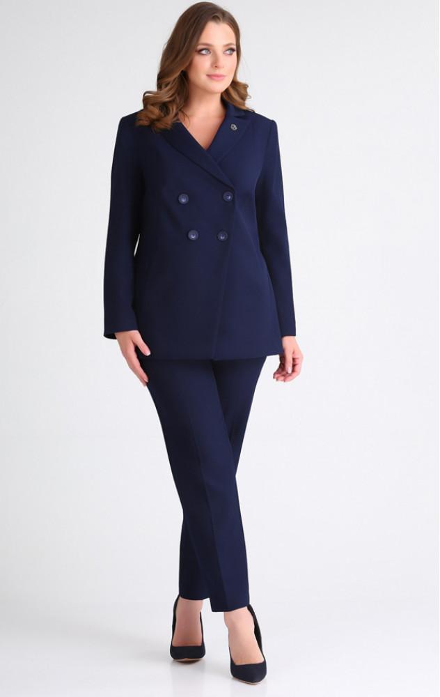 Ivelta 2946 - білоруський брючний діловий темно-синій костюм