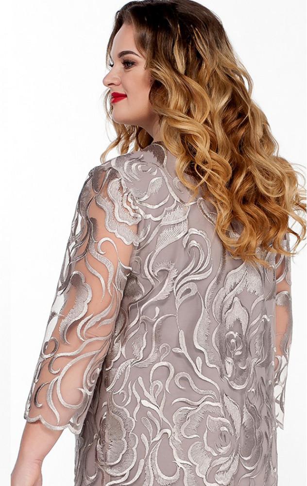 Lakona 1043 - ошатний брючний костюм з вишитою блузою