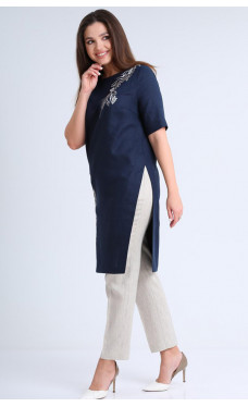 Брючний лляний костюм Mali 721-035