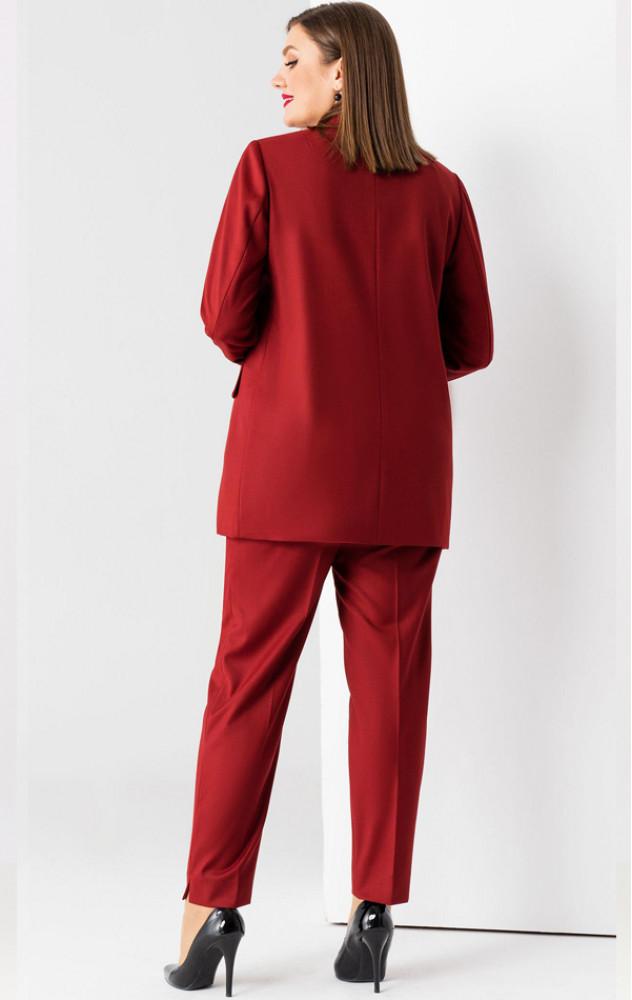 Panda 32720 - шикарний брючний костюм в кольорі бордо