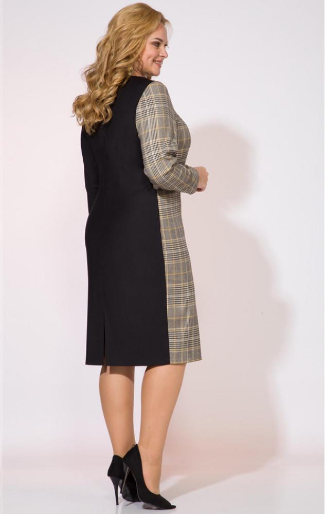 Liliana 993 - ділове плаття комбінованої забарвлення білоруського виробництва