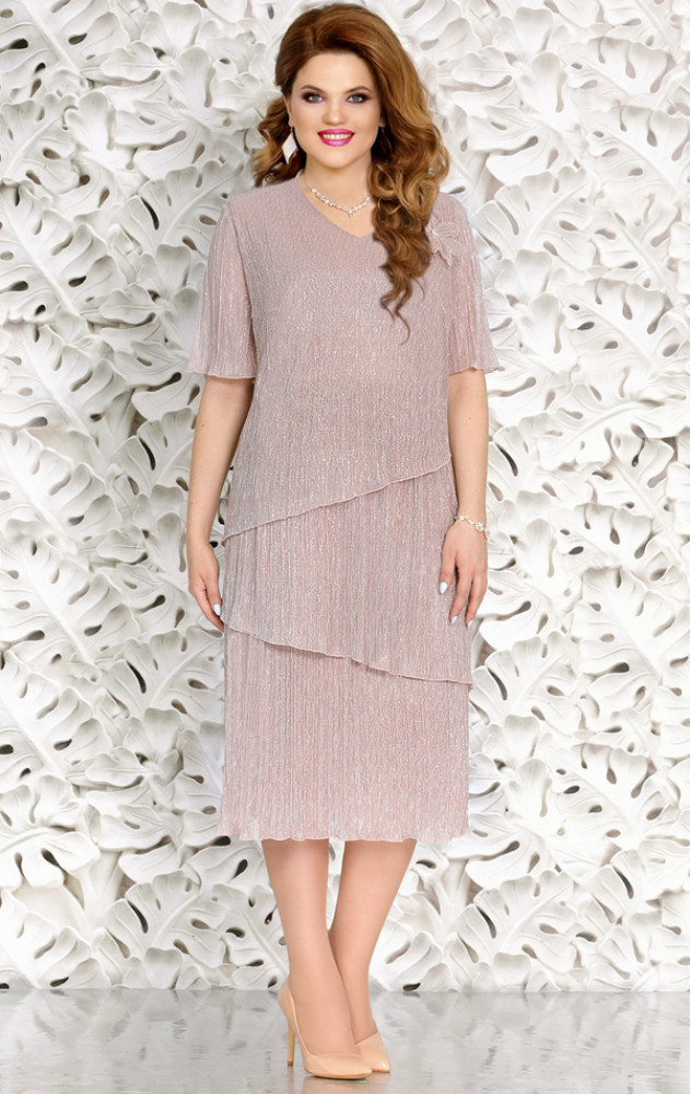 Mira Fashion 4710 - ошатне білоруське плаття великого розміру