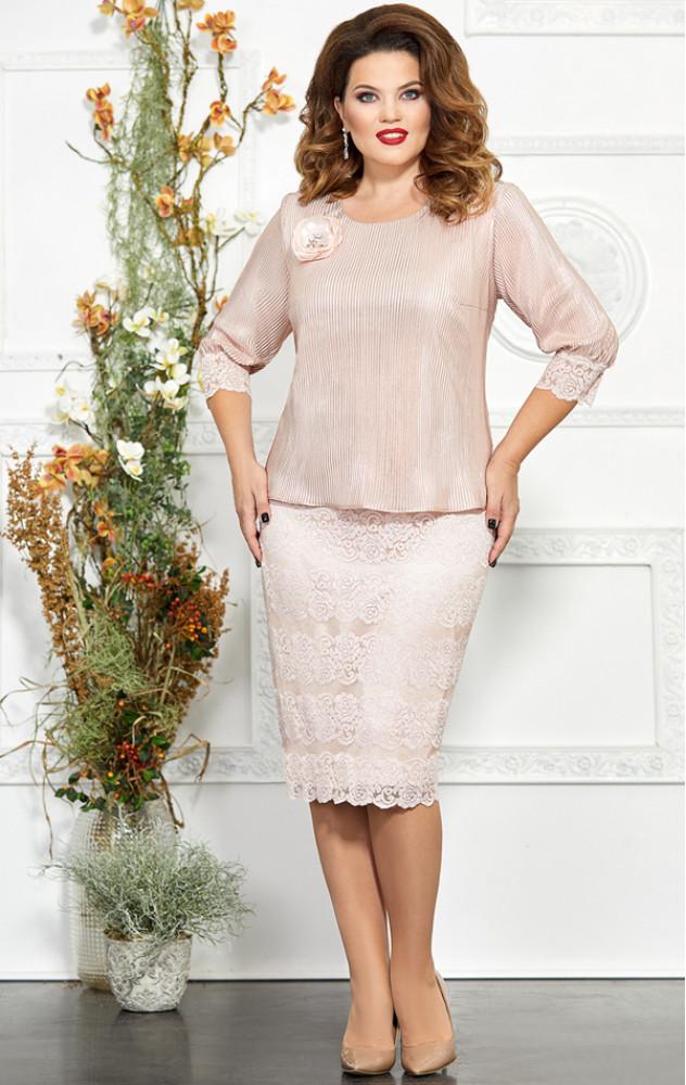 Mira Fashion 4864 - ошатне білоруське плаття, імітація комплекту