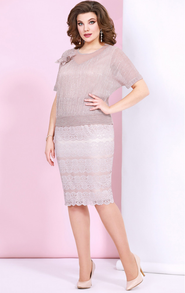 Mira Fashion 4901 - ошатне білоруське плаття, імітація комплекту