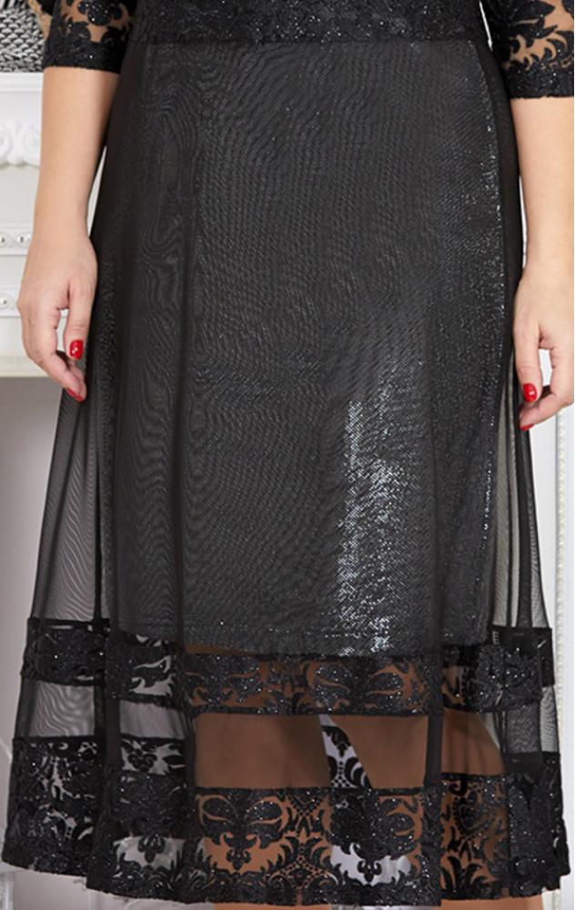 Mira Fashion 4723 - ошатне білоруське чорне плаття