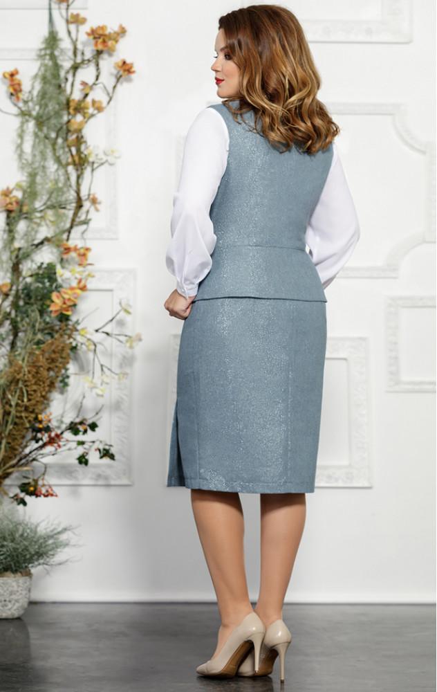 Mira Fashion 4823 - білоруський діловий костюм-трійка з жилетом