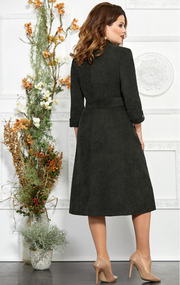 Mira Fashion 4858 - білоруське повсякденне чорне плаття зі штруксу