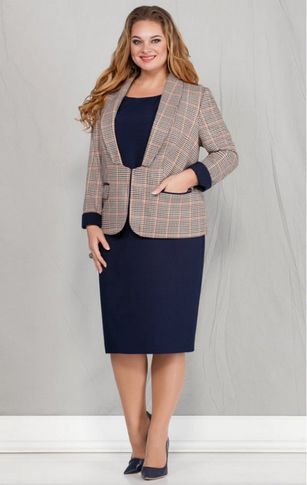 Ivelta 601 - білоруський діловий комплект (плаття з жакетом)