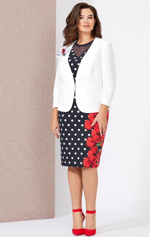 Mira Fashion 5010 - ошатний костюм (плаття з жакетом)