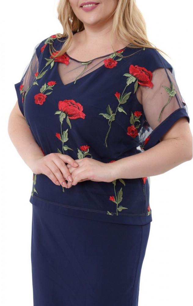 Petro Soroka 3329 - ошатний комплект (плаття і блуза)
