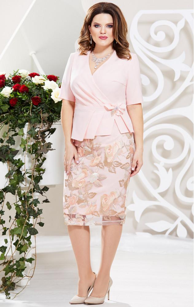 Mira Fashion 4580 - ошатний костюм (блуза і спідниця)